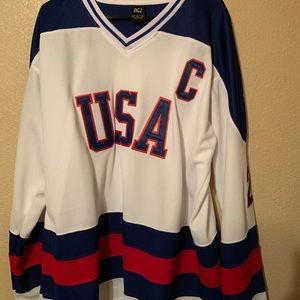 Mike Eurizone USA 1980 Olympic Hockey jersey